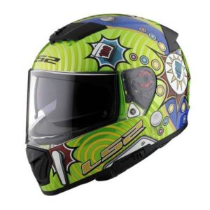 Casco para Moto Integral LS2 BREAKER Verde-Ama-Azul FF390