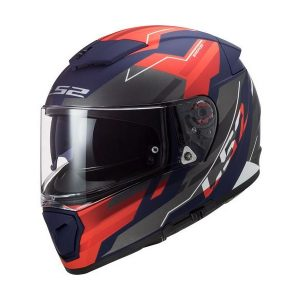 Casco Integral LS2 BREAKER Beta Rojo-Azul-Mate-FF390