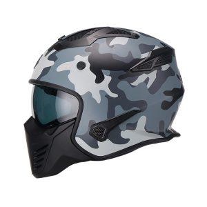 Casco Para Moto Hibrido 726X Trooper Camu Gris