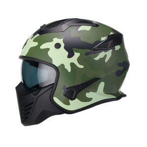 Casco Para Moto Hibrido 726X Trooper Camu Verde