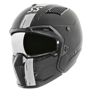 CASCO MOTO RENTRO SS2400 TOUGH AS NAILS-blanco-negro