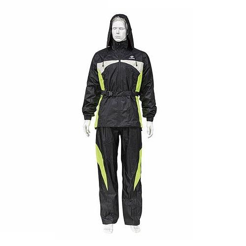 Impermeable para motociclista Avante Negro-Amarillo con reflejantes