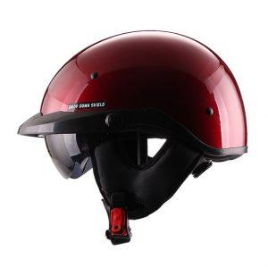 Casco Abierto Medio TRAVELER Rojo Brillo FS-731A