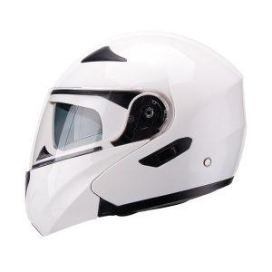 Casco Para Moto Faseed Abatible Blanco Brillo FS-901N