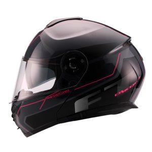 Casco Para Moto Faseed Abatible FT Anti Negro-Gris FS-907