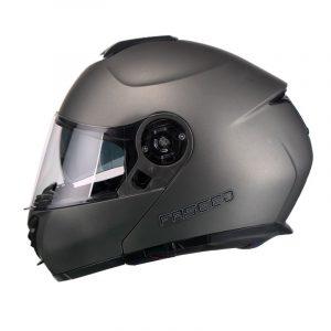 Casco Para Moto Faseed Abatible Gris Titanium Mate FS-907