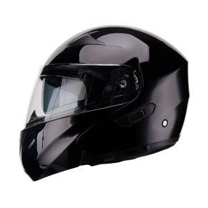 Casco Para Moto Faseed Abatible Negro Brillo FS-901N