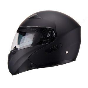 Casco Para Moto Faseed Abatible Negro Mate FS-901N
