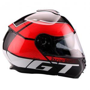 Casco Para Moto Faseed Abatible Rojo-Negro FS-907 GT
