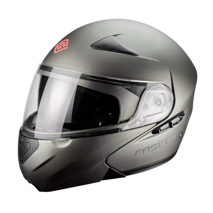 Casco Para Moto Faseed Abatible Titanium Mate FS-901