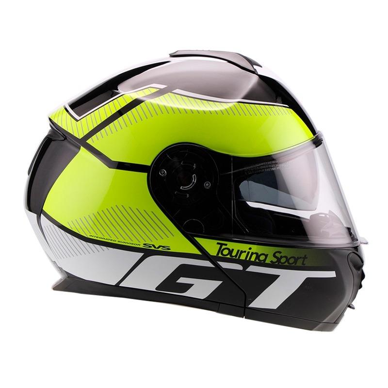 Casco Para Moto Faseed Abatible Verde-Negro FS-907 GT