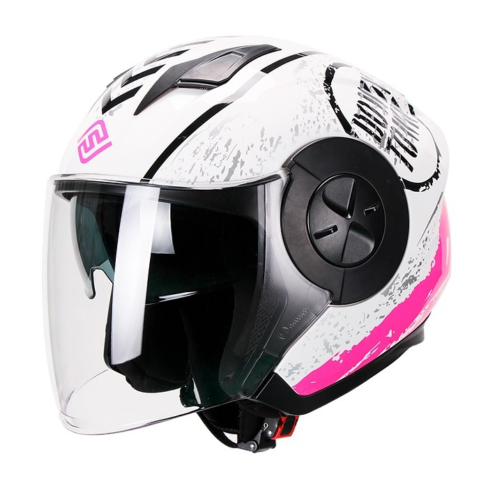Casco Para Moto Jet 3-4 FS-735 Mujer DownTown Pink-Rosa