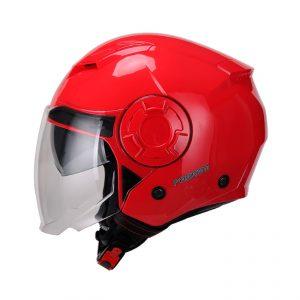 Casco Para Moto Jet FS-729 Rojo