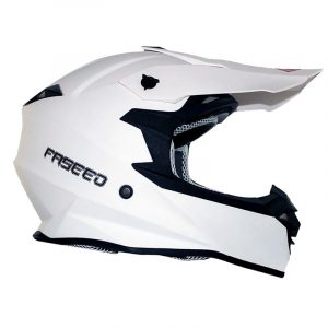 Casco de Motocross Blanco Mate FS-607 ECE-2205