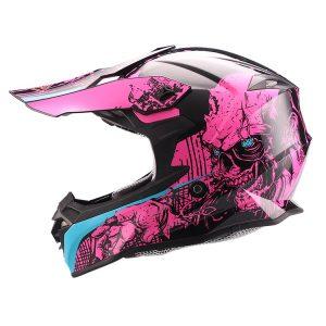 Casco de Motocross Cross Walker Magenta FS-607