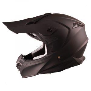 Casco de Motocross Negro Mate FS-607 ECE-2205