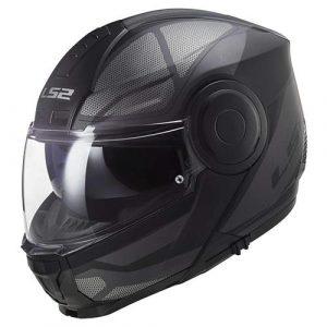 Casco para Moto Abatible LS2 SCOPE Negro-Gris Mate FF902 (1)