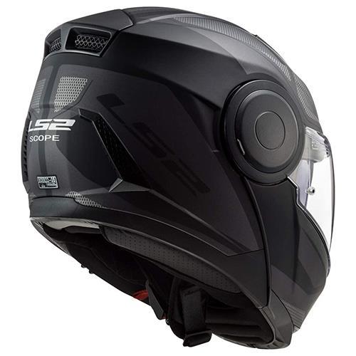 Casco para Moto Abatible LS2 SCOPE Negro-Gris Mate FF902 (3)